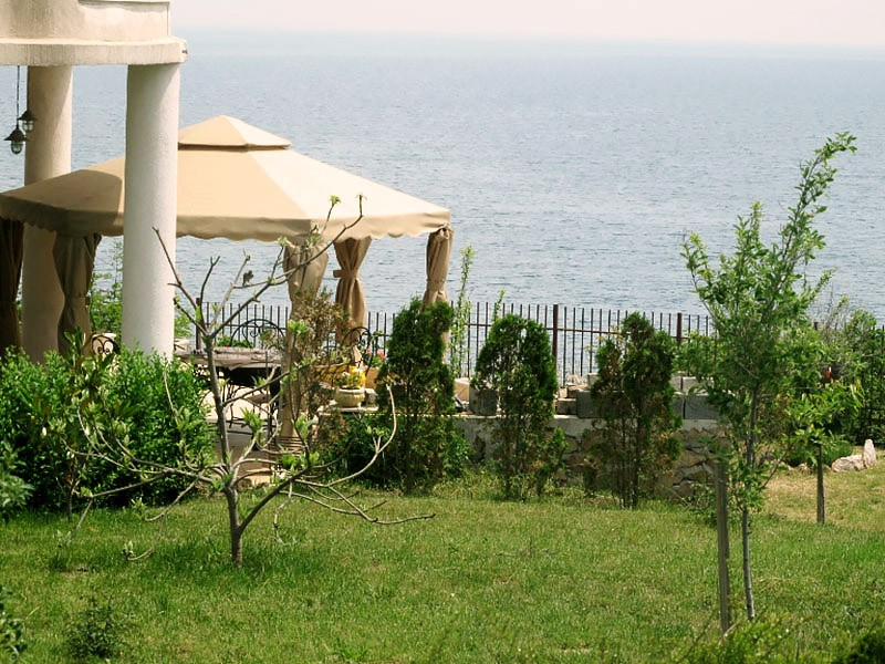 Sea view from the garden